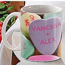 Personalized Candy Hearts Mug