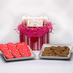Valentine's Day Chocolate Chip Cookies Gift Basket