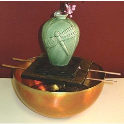 Dragonfly Tabletop Fountain