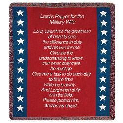Lord's Prayer for the Military Wife Tapestry Throw
