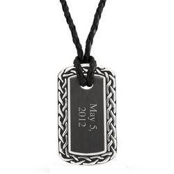 Engravable Celtic Border Dog Tag Necklace