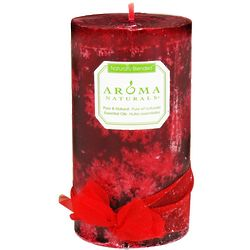Peace Ruby Holiday Eco-Friendly Pillar Candle