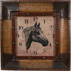 "Giddyup 27"" Horse Clock"
