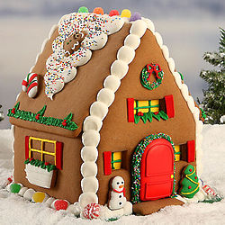 Decorated Pre-made Gingerbread House