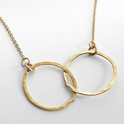 Linked Circles Gold Necklace