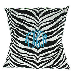 Zebra Striped Personalized Pillow