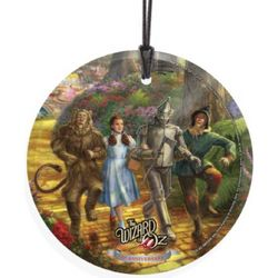 Thomas Kinkaid Follow the Yellow Brick Road Hanging Glass Print