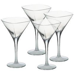 Squared-Off Crystal Martini Glasses