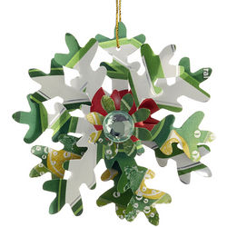 7-Up Snowflake Personalized Christmas Ornament