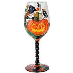 Halloween Bouquet Wine Glass