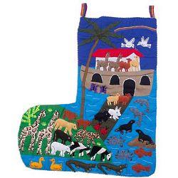 Noah's Ark Cotton Arpilleria Christmas Stocking