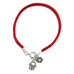 Red String Star of David Bracelet