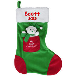 My First Christmas Personalized Stocking