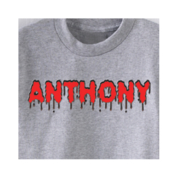 Personalized Blood Dripping Name T-Shirt