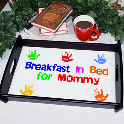 Personalized Breakfast in Bed Serving Tray