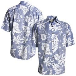Surf Plaids Teal Button-Up Hawaiian Shirt