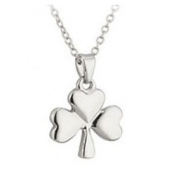 Silver Shamrock Charm Necklace