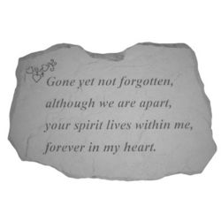 Gone yet Not Forgotten Pet Memorial Stone