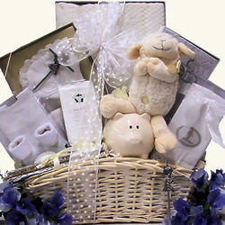 Beautiful Blessings on Your Christening Baby Boy Basket
