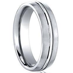 Cobalt Chrome Ring with Polished Center Trim