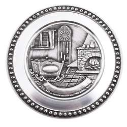 Handcrafted Pewter Birth Plate