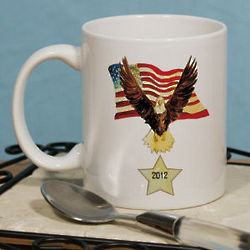 Personalized American Eagle Coffee Mug