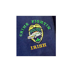 Crime Fightin' Irish Embroidered T-Shirt