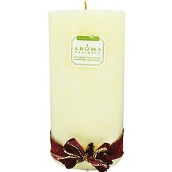 White Holiday Scented Eco-Friendly Pillar Candle
