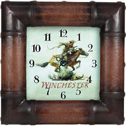 Ride 'em Cowboy Winchester Horse and Rider Clock