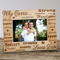 Why I Love You Wood Picture Frame for Him