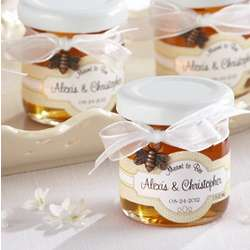 Meant to Bee Mini Personalized Honey Jar Favors