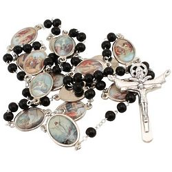 Stations of the Cross Rosary in Black Wood