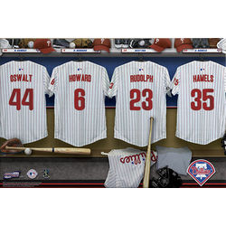 Personalized Philadelphia Phillies 24x36 Locker Room Canvas