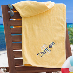 Sunshine Yellow Personalized Beach Towel