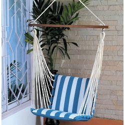 Striped Cotton Hammock Swing Chair