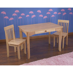 Natural Avalon Table & 2 Chair Set