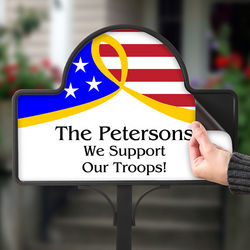 Support Our Troops Personalized Yard Stake Magnet