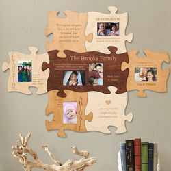 Personalized Family Story Puzzle Piece Picture Frame