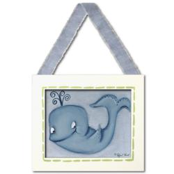 Whale Framed Canvas Hanging Wall Art