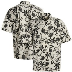 Tahitian Cream Button-Up Hawaiian Shirt