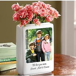 Personalized Large Photo Vase