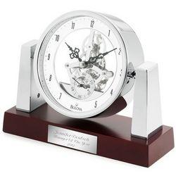Bulova Largo Skeleton Desk Clock