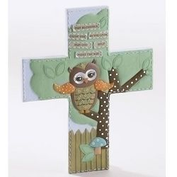 Owl with Blessing Wall Cross