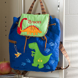 Personalized Dinosaur Quilted Backpack