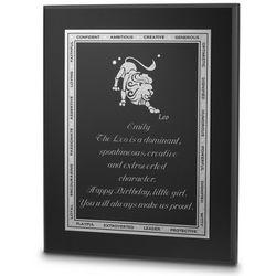 Leo Zodiac Plaque
