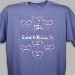 Personalized Heart Belongs To T-Shirt