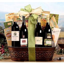 California Quartet Wine Gift Basket