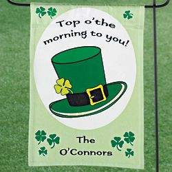 Personalized Shamrock Mini Banner