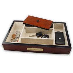 Personalized Men's Wooden Valet
