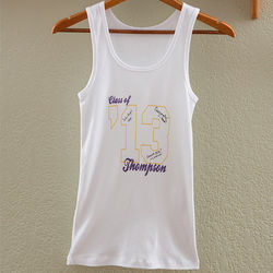Personalized Graduation Class Signature Junior's Tank Top